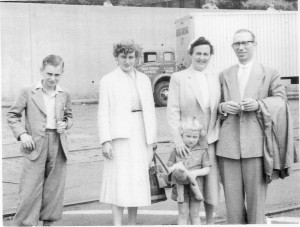 Knetsch Family, June 1955, just off the boat in Hoboken, New Jersey.